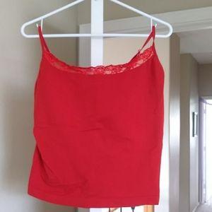 Valerie Stevens red camisole